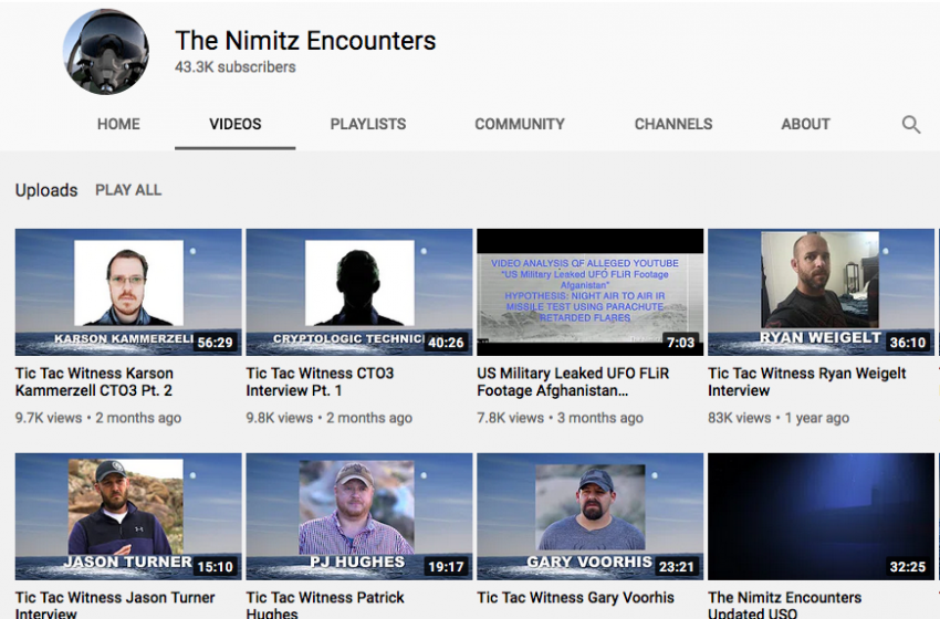 Original Reporting and Interviews on The Nimitz Encounters