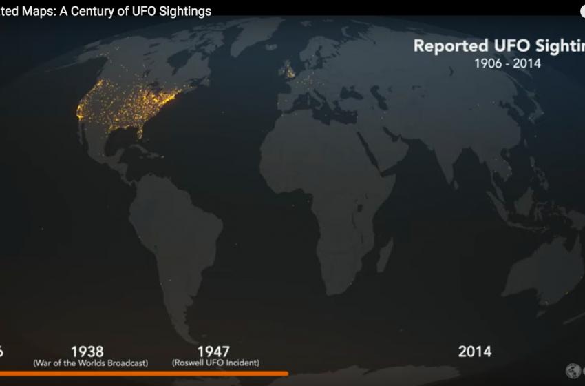 Esri Animated Map: A Century of UFO Sightings