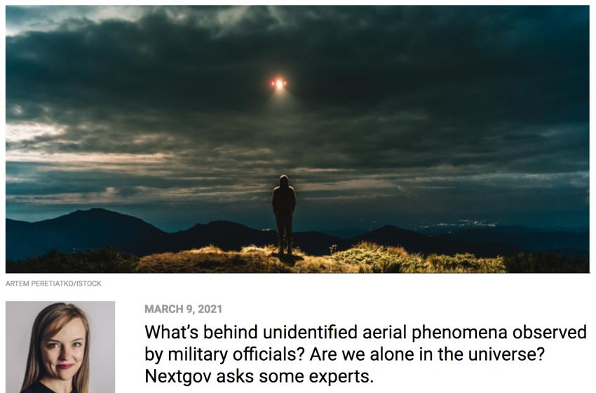 NextGov Podcast: Let's Talk About UFOs