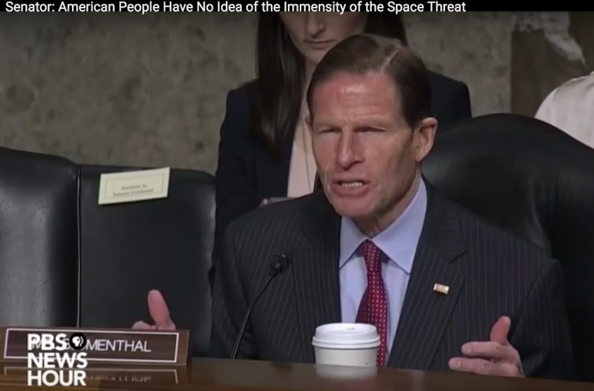 U.S. Senator Richard Blumenthal on Classified Space Threat that Would 'Alarm' Americans