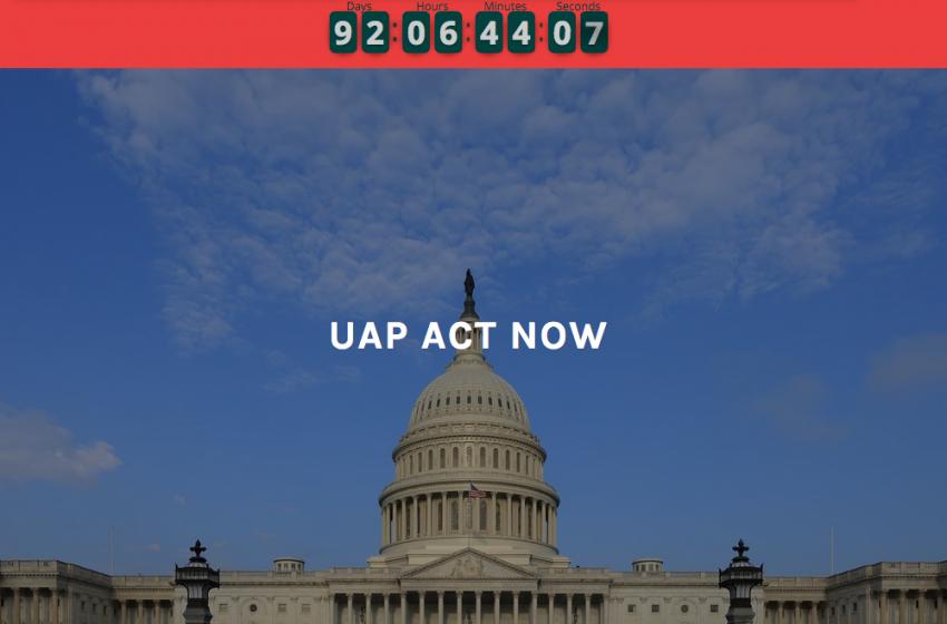 UAPActNow.com: I request transparency with respect to UAPs