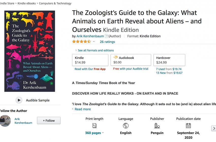 Alien Life Looks Like Life on Earth: New Book