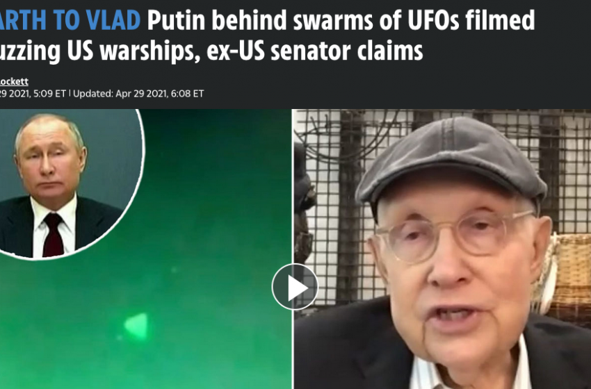 Harry Reid Claims Russia Behind 2019 UAP Navy Drone Swarm
