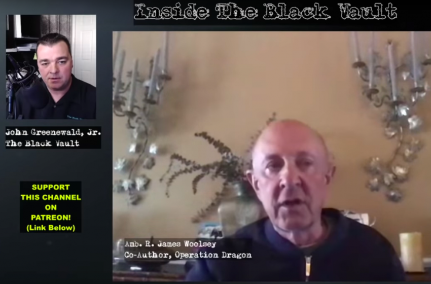 Former CIA Head James Woolsey Not Skeptical, Open to Considering UFOs