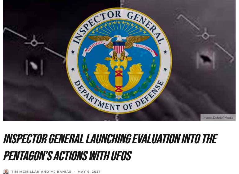 Pentagon Watchdog Launches Investigation on UAP Actions
