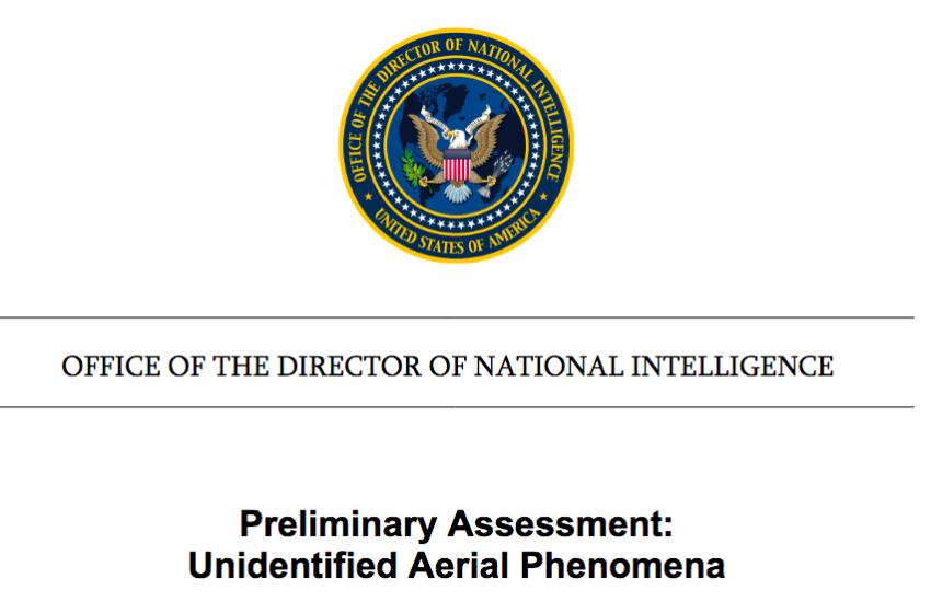 Preliminary Assessment on Unidentified Aerial Phenomena